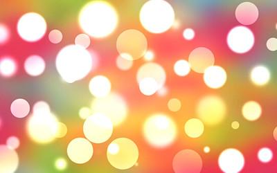 光の玉のイラスト