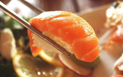 サーモン寿司の写真
