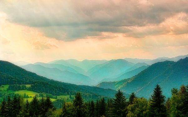 山並みの写真