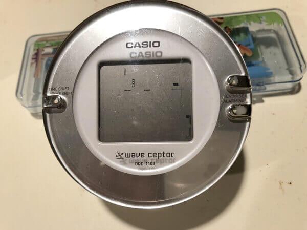 電波時計の写真(地震の前兆現象)
