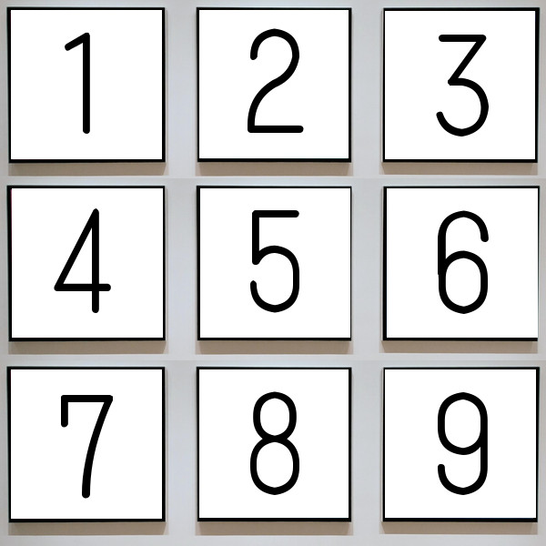 数字のイラスト(問題)