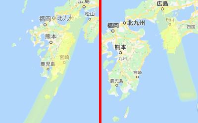 地震予知の場所を記した日本地図の画像