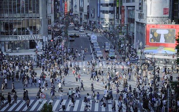 渋谷の交差点の写真