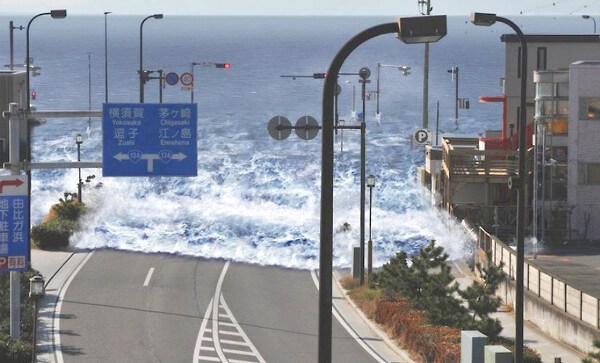 津波のシミュレーション画像