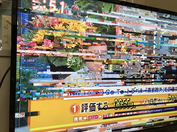 テレビ画面の写真