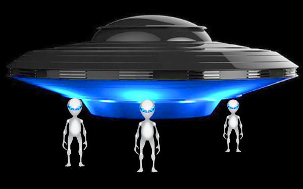 UFOとエイリアンのイラスト