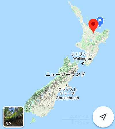 ニュージーランドの地図の画像