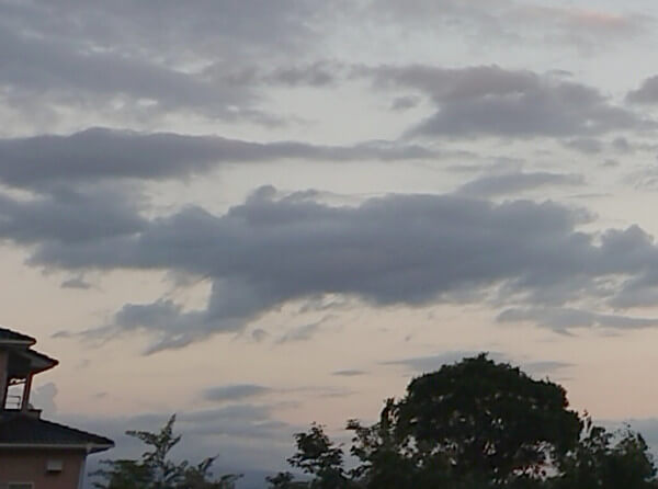 龍のような雲の写真