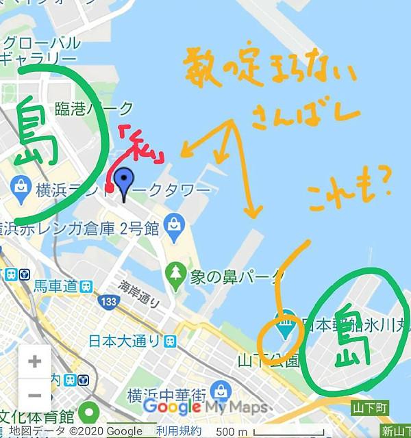 横浜港の地図