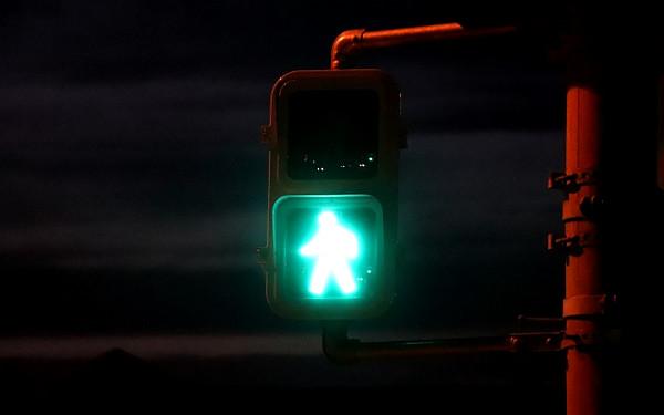 信号機の写真