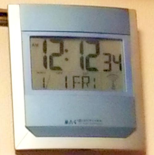 電波時計の写真