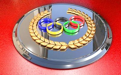 オリンピックのプレートの写真