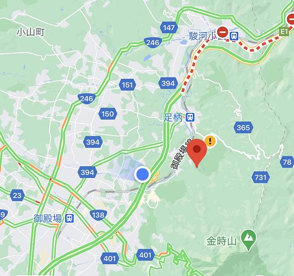 静岡県小山町の地図