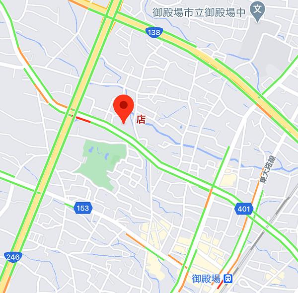 御殿場付近の地図
