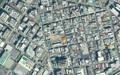 住宅街の空撮写真