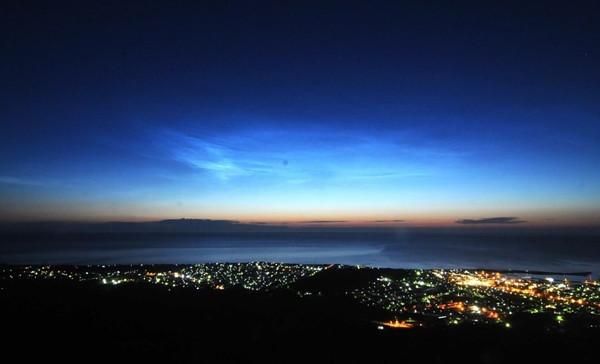 夜光雲の写真