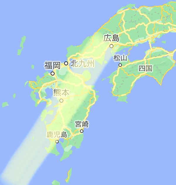 日本地図の画像(地震予知)