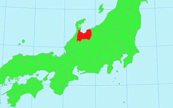 日本地図の画像(富山)