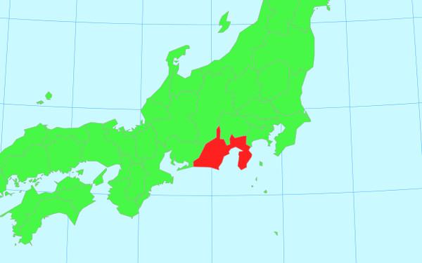 日本地図の画像(静岡)