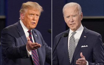 トランプ大統領とバイデン氏の写真