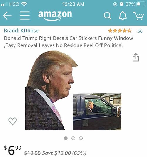 トランプ大統領のステッカー