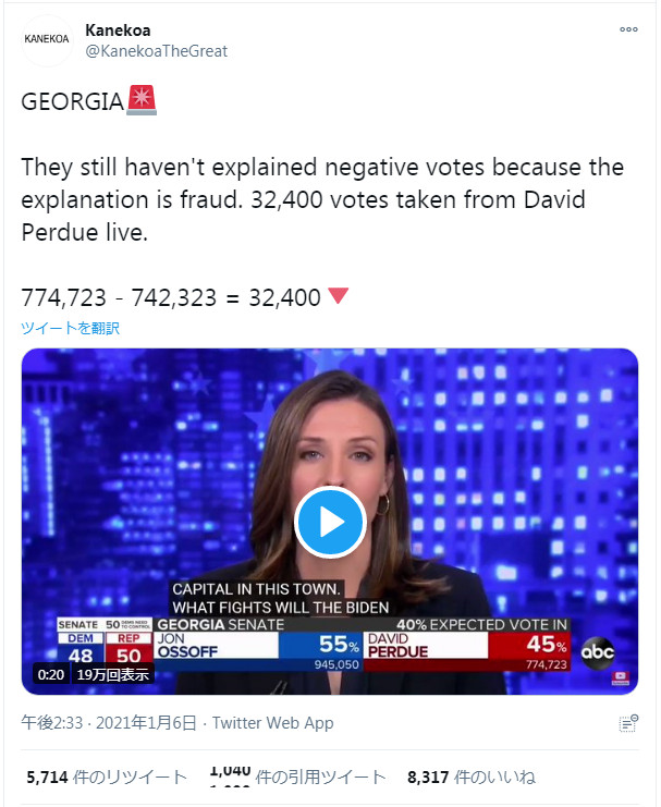 ジョージア州の上院選で行われた不正の証拠