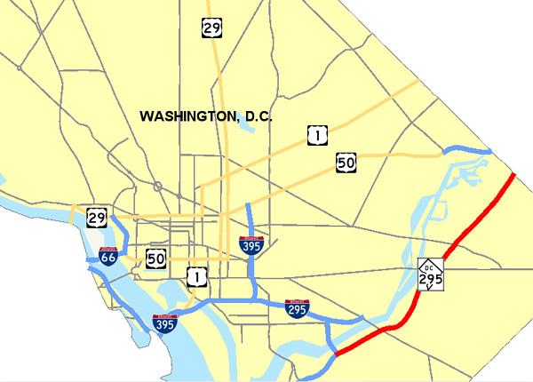 ワシントンD.C.(アメリカ)の地図の画像