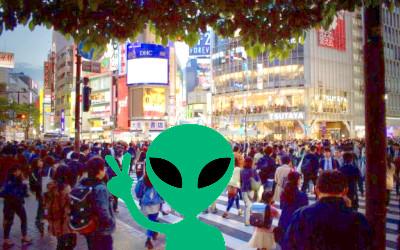 宇宙人のイメージイラスト