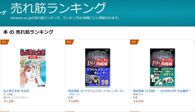 Amazon本の売れ筋ランキング(総合)