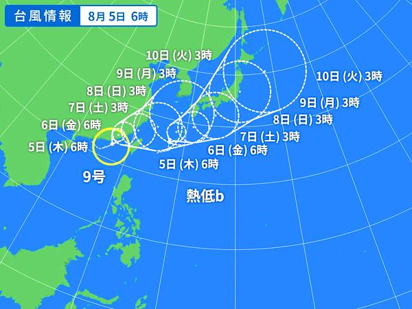 台風の天気図