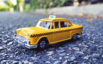 タクシー(ミニチュア)の写真