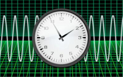 電波時計のイメージイラスト