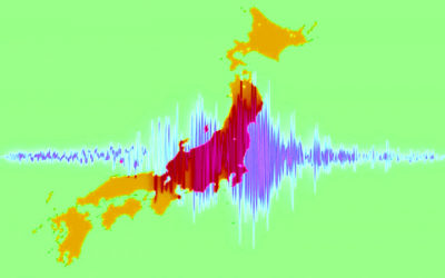 地震波のイメージ画像