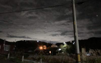 地震発光現象の写真
